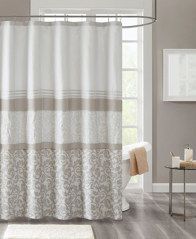 """510 Design Ramsey 72"""" x 72"""" Printed and Embroidered Shower Curtain"""