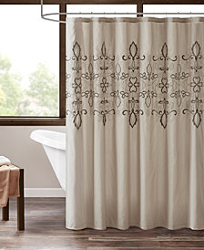 "510 Design Karlene 72"" x 72"" Embroidered Shower Curtain with Liner"