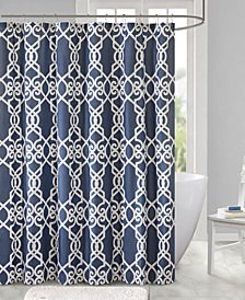 "510 Design Neptune 72"" x 72"" Printed Shower Curtain"