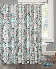 "Echo Design Sterling 72"" x 72"" Cotton Printed Shower Curtain"