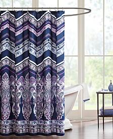 """Intelligent Design Adley 72"""" x 72"""" Shower Curtain"""