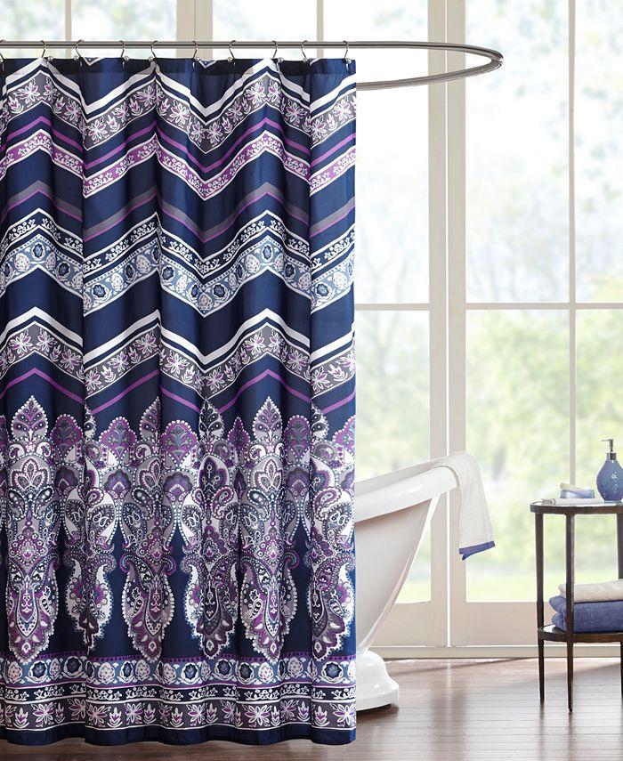 """Intelligent Design - Adley 72"""" x 72"""" Shower Curtain"""