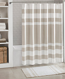 "Madison Park Spa Waffle 72"" x 84"" Shower Curtain with 3M Treatment"