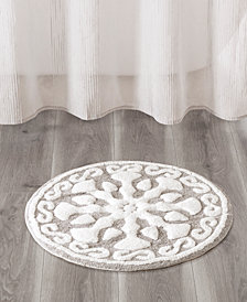"Madison Park Casablanca 25"" Medallion Cotton Tufted Rug"