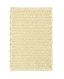 "Lasso 17"" x 24"" Pieced Dyed Cotton Chenille Chain Stitch Rug"