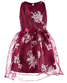 Pink & Violet Big Girls Floral-Print Dress