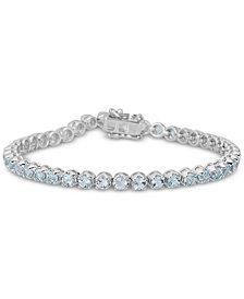 Sky Blue Topaz Link Bracelet (4 ct. t.w.) in Sterling Silver