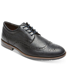 Rockport Men's Dustyn Leather Wingtip Oxfords