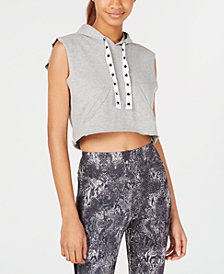 Material Girl Juniors' Sleeveless Cropped Vest, Created for Macy's