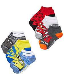 Disney Little & Big Boys 6-Pk. Cars No-Show Socks