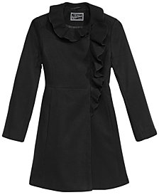 S. Rothschild Big Girls Ruffle-Trim Coat