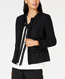 Anne Klein Fringe-Trim Jacket