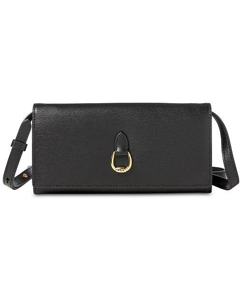 4feff16abc Lauren Ralph Lauren Bennington Crossbody Leather Wallet ...