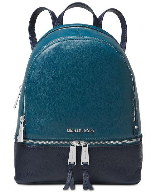 8a858345adfa Michael Kors Rhea Colorblock Pebble Leather Backpack - Handbags ...