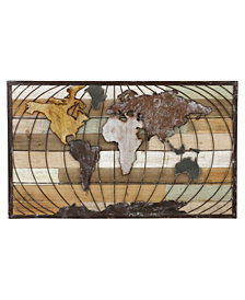 Stanford World Map Wall Décor, Set of 3