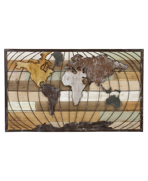 Aspire Home Accents Marco World Map Wall Decor
