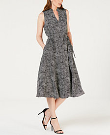Anne Klein Printed Midi Dress