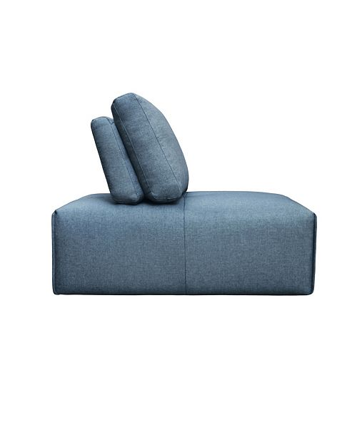 Moe's Home Collection Nathaniel Slipper Chair Blue