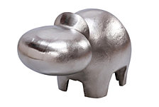 Abstract Raw Nickel Hippo Sculpture