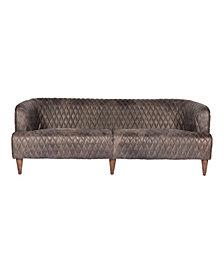 Magdelan Tufted Leather Sofa