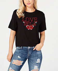 GUESS Embroidered Cropped T-Shirt