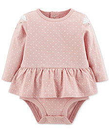 Carter's Baby Girls Kitty Printed Skirted Cotton Bodysuit