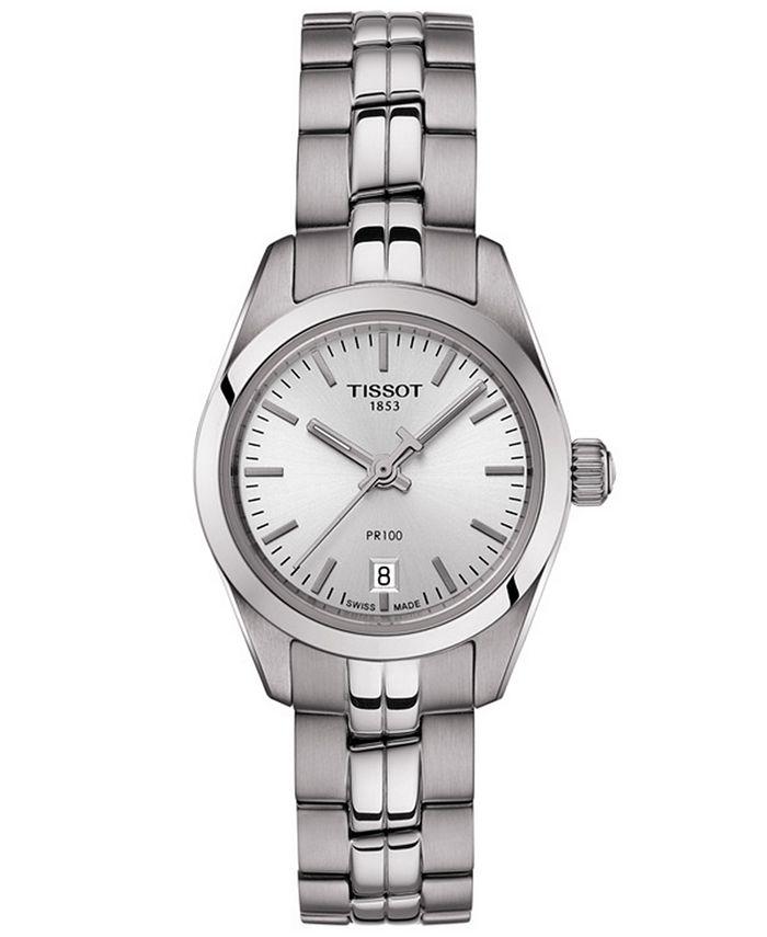 Tissot - Women's Swiss T-Classic PR 100 Gray Stainless Steel Bracelet Watch 25mm