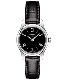 Women's Swiss T-Classic Tradition 5.5 Black Leather Strap Watch 25mm