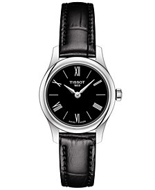 Tissot Women's Swiss T-Classic Tradition 5.5 Black Leather Strap Watch 25mm