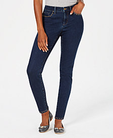 Charter Club Bristol Studded Skinny Jeans, Created for Macy's