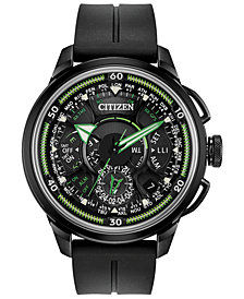 Citizen Eco-Drive Men's Chronograph Promaster Satellite Wave Black Polyurethane Strap Watch 49mm - A Limited Edition