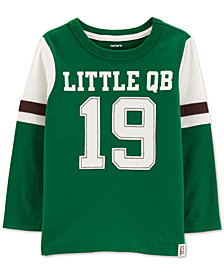 Carter's Baby Boys Little QB-Print Cotton T-Shirt