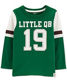 Carter's Baby Boys Little QB-Print Cotton T-Shirt