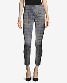 ECI Jacquard Mixed-Print Pull-On Pants