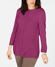 Karen Scott Petite Luxsoft Sweater, Created for Macy's