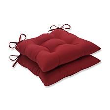 Pompeii Red Wrought Iron Seat Cushion, Set of 2