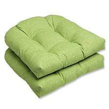 Baja Linen Lime Wicker Seat Cushion, Set of 2