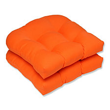 Sundeck Orange Wicker Seat Cushion, Set of 2