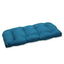 Spectrum Peacock Wicker Loveseat Cushion