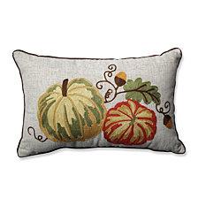 Gourdy Harvest Rectangular Throw Pillow
