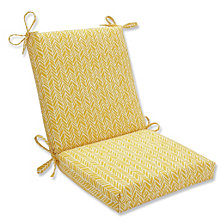 Herringbone Egg Yolk Squared Corners Chair Cushion