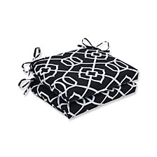 Kirkland Black Squared Corners Seat Cushion, Set of 2