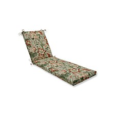 Botanical Glow Tiger Stripe Chaise Lounge Cushion