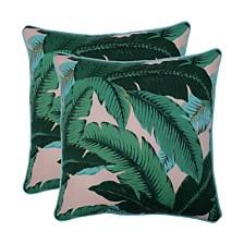 "Swaying Palms Capri 18.5"" Throw Pillow, Set of 2"