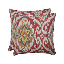 "Ubud Coral 18.5"" Throw Pillow, Set of 2"