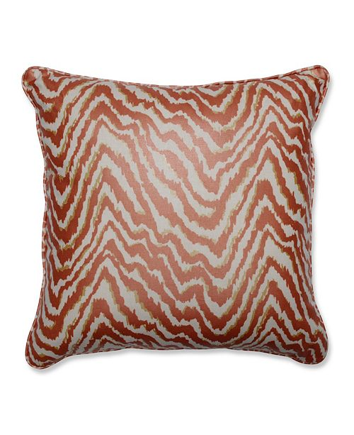 "Pillow Perfect Sleek Spice 18"" Throw Pillow"