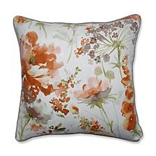 "Pretty Perennials Nude 18"" Throw Pillow"