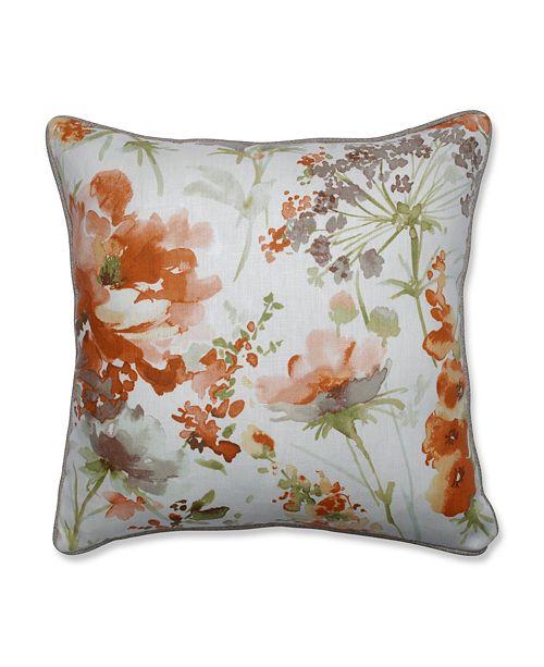 "Pillow Perfect Pretty Perennials Nude 18"" Throw Pillow"