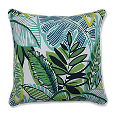 "Aruba Jungle Green 18.5"" Throw Pillow, Set of 2"