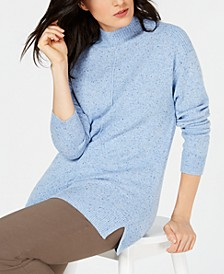 Mock-Neck Shimmer Sweater, Created for Macy's